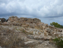 Puig DE sa Morisca Moors Piek archeologisch park in Majorca stock foto