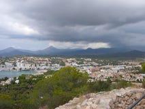 Puig DE sa Morisca (Moorse Piek) archeologisch park in Majorca royalty-vrije stock foto's