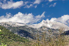 Puig major mountain in the Sierra de Tramuntana Royalty Free Stock Photography