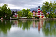 Puigcerda in the Catalan Pyrenees Stock Photography