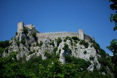 Puilaurens kasztel w południe Francja obrazy royalty free