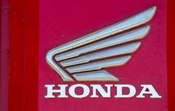Honda name with logo outside shop stock images