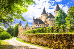 Puimartin castle ,Dordogne. Most beautiful castles of France - Puimartin,Dordogne royalty free stock photos