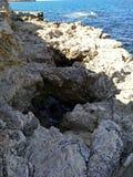 Puin antico di citi dei cloubs del cielo del mare del sole di estate di Criema chersonese Fotografie Stock
