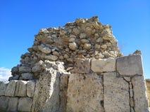 Puin antigo do citi dos cloubs do céu do mar do sol do verão de Criema chersonese imagens de stock royalty free
