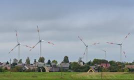 Puissance d'Eco, turbines de vent Images stock