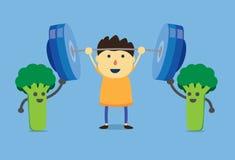 Puissance d'enfant de brocoli Image libre de droits