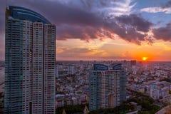 Puissance de coucher du soleil Photos stock