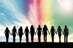 Puissance de fille photo libre de droits