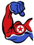 Puissance de la Corée du Nord illustration stock