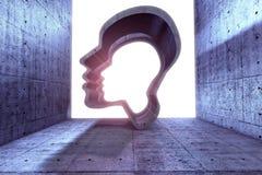 Puissance de la pensée, de la spiritualité et de l'imagination illustration de vecteur