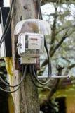 Puissance de mètres électriques Photos stock