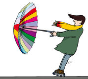 Puissance de parapluie Photographie stock