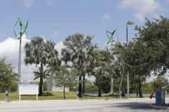 Puissance de remplissage de véhicule d'énergie éolienne Images libres de droits