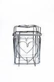 Puissance de séchage de coeur en acier de cage de l'amour Image stock