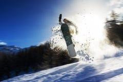 Puissance de surf des neiges images libres de droits