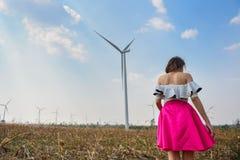 Puissance de turbine de vent images stock