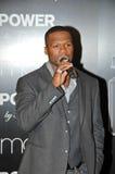 Puissance du parfum de 50 de cent hommes de lancements nouveaux «par 50' chez Macy's, Lakewood, CA 11-11-09 Photos libres de droits
