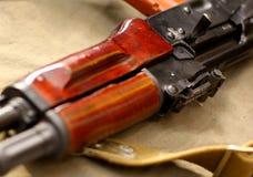 Puissance russe d'arme d'AK-47 Photo libre de droits