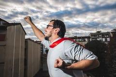 Puissance superbe d'homme d'affaires Photographie stock libre de droits