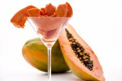 Puissances de attendrissement de vantardise de viande - le frui de papaye Photos libres de droits