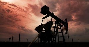 Puits actif de pétrole et de gaz Image stock