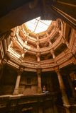 Puits antique à Ahmedabad Inde, Gujara photo libre de droits
