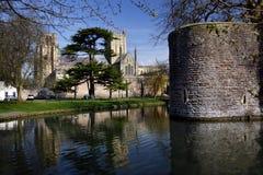 Puits cathédrale et palais d'évêques - puits - l'Angleterre photo libre de droits