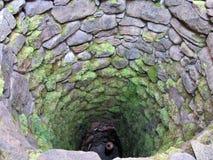 Puits d'eau dans le château d'Edole Images stock