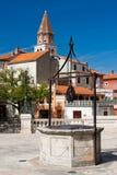Puits d'eau dans Zadar photos stock