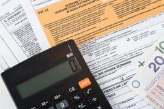 Puits de déclaration d'impôts Images libres de droits