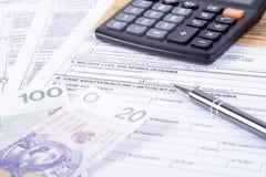 Puits de déclaration d'impôts Photographie stock libre de droits