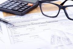 Puits de déclaration d'impôts Photos libres de droits