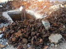 puits de Fer-argile pour la construction de courrier Photos stock