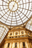 Puits de Milan Shopping Emanuele Vittorio II Photo stock
