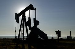 Puits de pétrole photos libres de droits