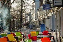 PUITS DE TUNBRIDGE, KENT/UK - 5 JANVIER : Vue des tuiles de cimaise dans R photos libres de droits