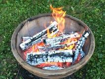 Puits du feu Photo libre de droits