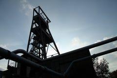 Puits français de mine abandonné images libres de droits