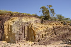 Puits ocres, parc national occidental de MacDonnell, Australie centrale Images stock