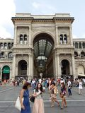 Puits Vittorio Emanuele II à Milan, Italie Image libre de droits