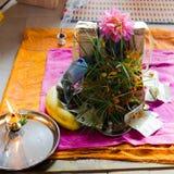 Puja aan Lord Ganesh tijdens het festival van Guru Purnima stock foto