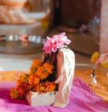 Puja aan Lord Ganesh tijdens het festival van Guru Purnima royalty-vrije stock afbeeldingen
