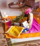 Puja aan Lord Ganesh tijdens het festival van Guru Purnima stock fotografie