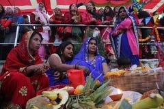 Puja Chhath стоковое фото
