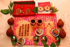 Puja di Navagraha, un culto di nove pianeti immagine stock libera da diritti