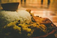 Puja Food Bar en maskros arkivbild