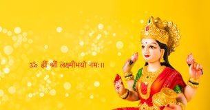 Puja Lakshmi oder des laxmi auf diwali Festival Stockbild