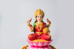 Puja Lakshmi oder des laxmi auf diwali Festival Stockfotografie