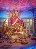 Puja Navrata de Durga Idol - de Durga, Bengal ocidental, Índia imagem de stock royalty free